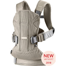 Рюкзак-переноска BabyBjorn ONE Mesh new version, серо-бежевый