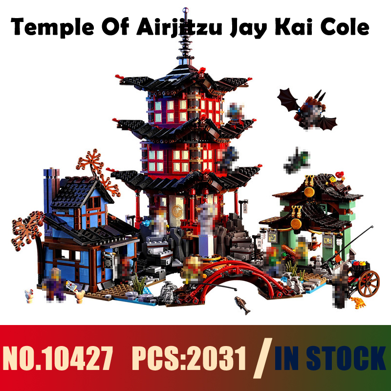 Models building toy 10427 2031PCS Temple Of Airjitzu Jay Kai Cole Building Blocks Compatible with lego Ninja 70751 toy & hobbies [yamala] 15pcs lot compatible legoinglys ninjagoingly cole kai jay lloyd nya skylor zane pythor chen building blocks ninja toys