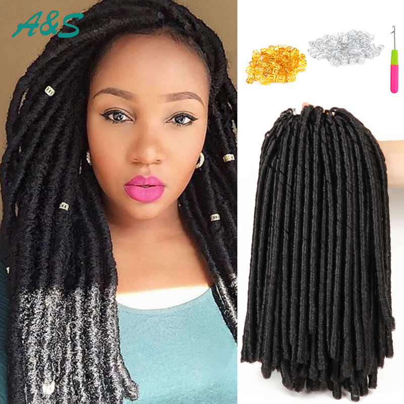 "faux locs crochet hair extentions 14"" ombre braids locs"