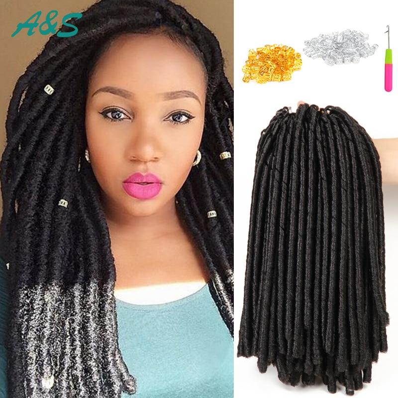 Faux Locs Crochet Hair Extentions 14u0026quot; Ombre Braids Locs Synthetic Hair Weave Soft Locs Crochet ...