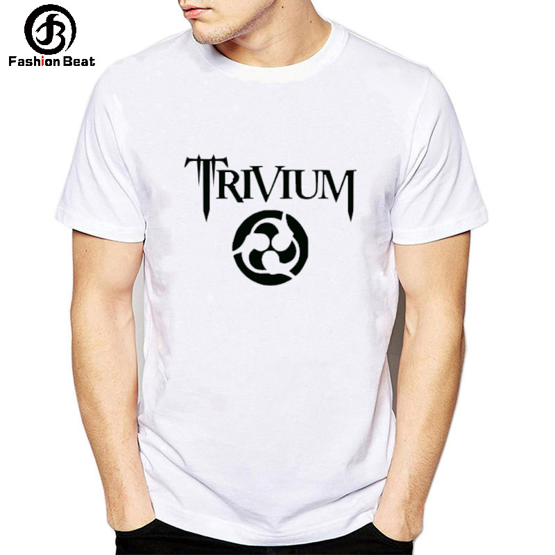 2019 Eur Usa Pop   T     Shirt   Trivium Rock Band   T  -  shirt   Sharingan Men Tshirt Homme Male Autumn New Tops Modal O-neck White Casual Tee