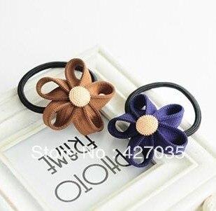 zipper flower headband hair rope fashion gold buckle hair rope  Hair Accessory