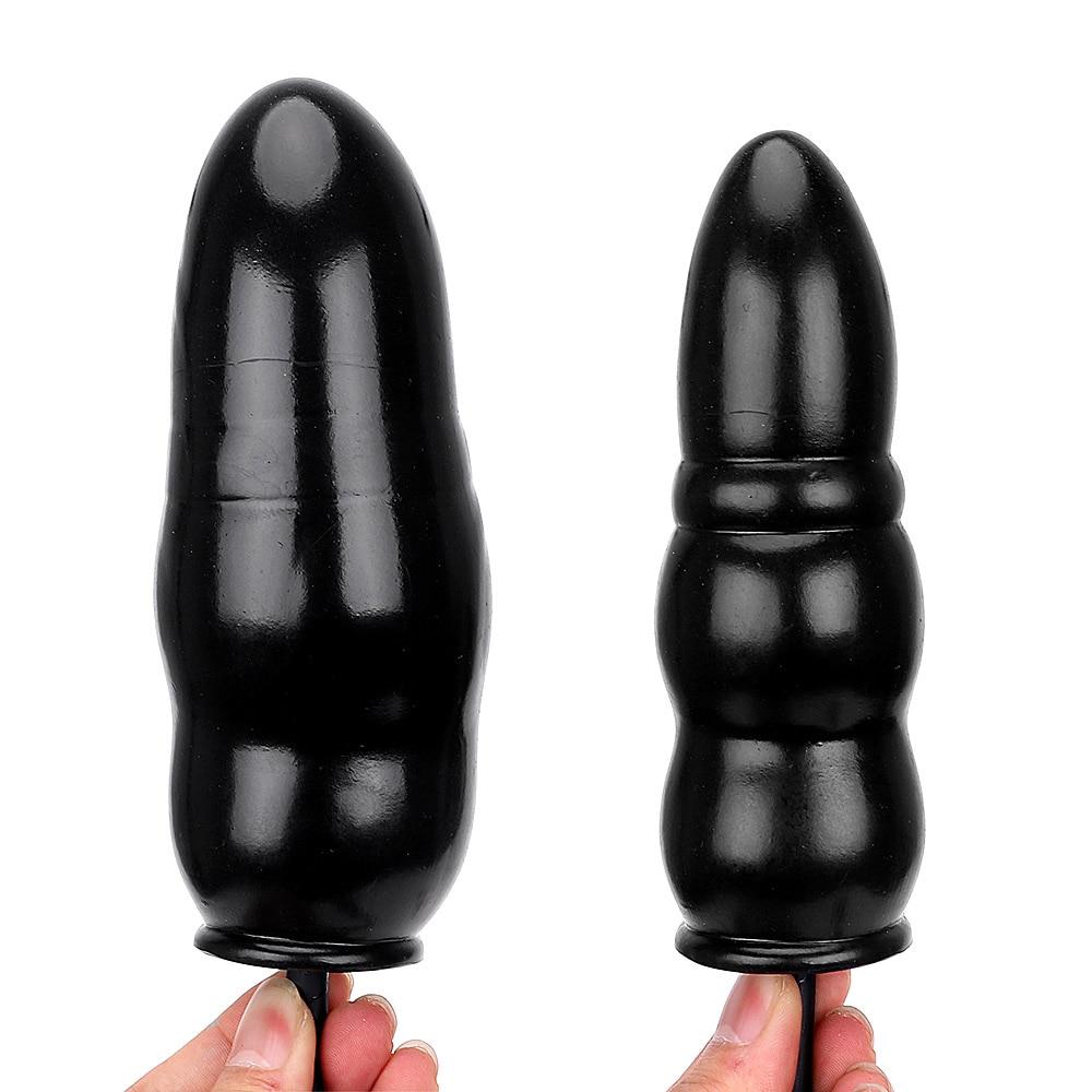 Надувной анальный плагин дворе массажер расширяемый Butt Plug Анальный расширитель Секс-игрушки