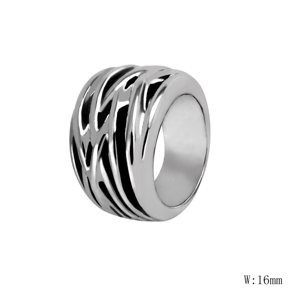 V-8 Color Mix Fashion Gift Lovers Finger Ring Brand Jewelry 316L Stainless Steel Couple Wedding Spring Ring Dropship