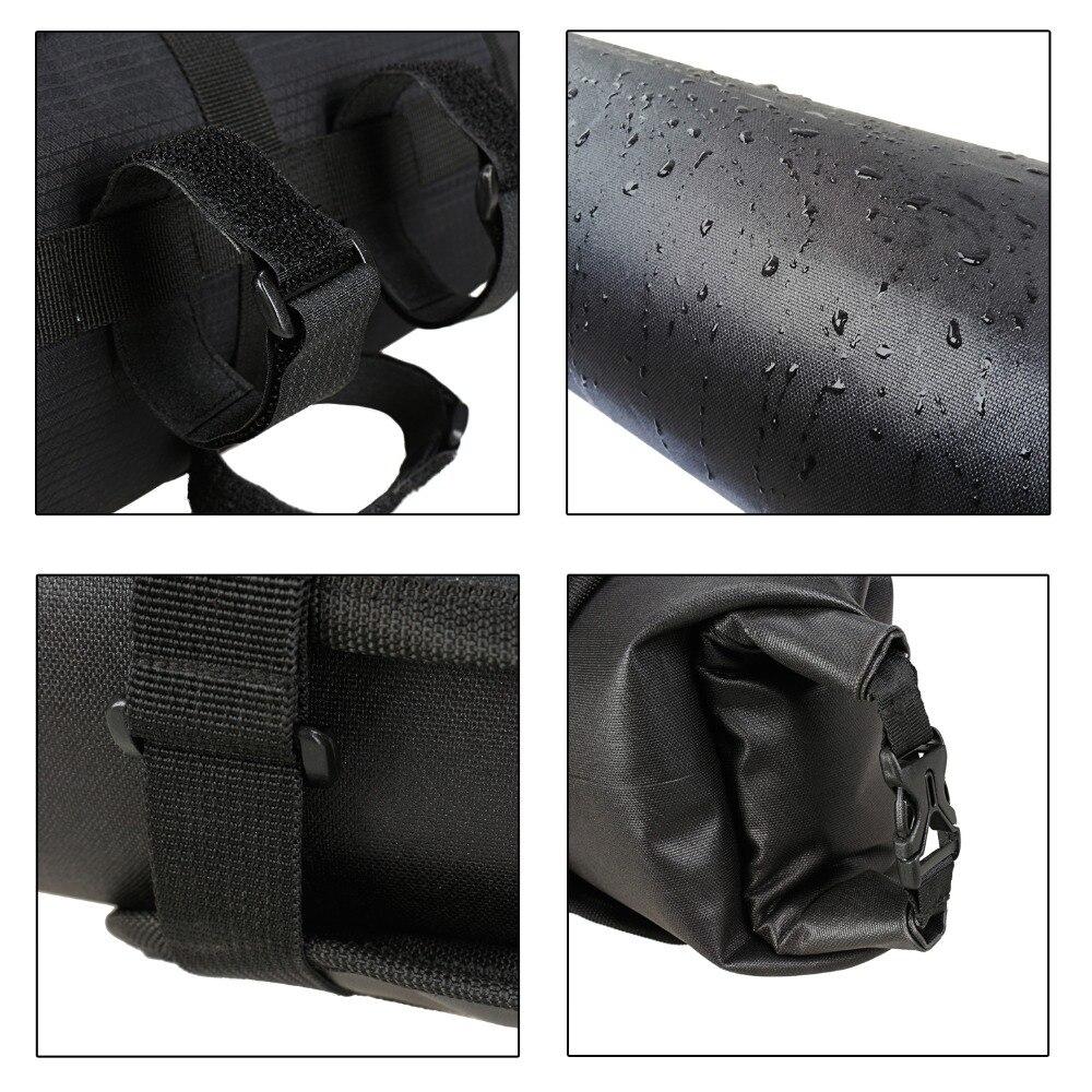 B SOUL Waterproof Bike Front Tube Bag Handlebar Basket Pack Frame Pocket