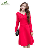 High Quality Fall Winter Models New Long Sleeved Dress Women S Fashion Sexy Party Dress Was