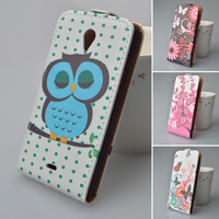 Leather Case with Credit Card Slots for Sony Xperia T LT30i LT30p phone bags colorful printed