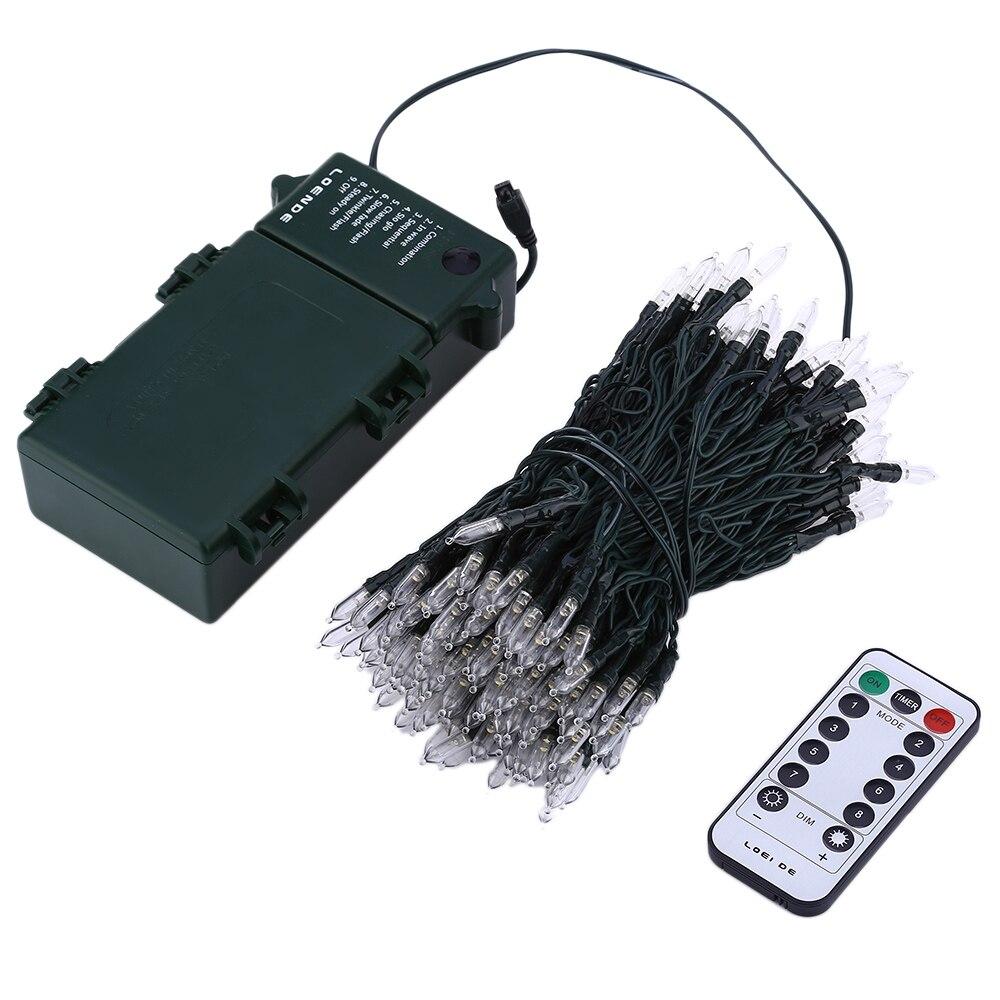 IR Remote Control 21M 200 LED Outdoor Christmas Fairy <font><b>Lights</b></font> <font><b>Warm</b></font> <font><b>White</b></font> Waterproof Battery Power LED String <font><b>Lights</b></font> Starry <font><b>Light</b></font>