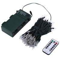 IR Remote Control 21M 200 LED Outdoor Christmas Fairy Lights Warm White Waterproof Battery Power LED