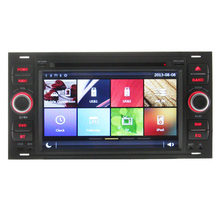 Full touch screen wince double din car dvd player for old For d gps navigation with bluetooth steering wheel control RDS FM AM