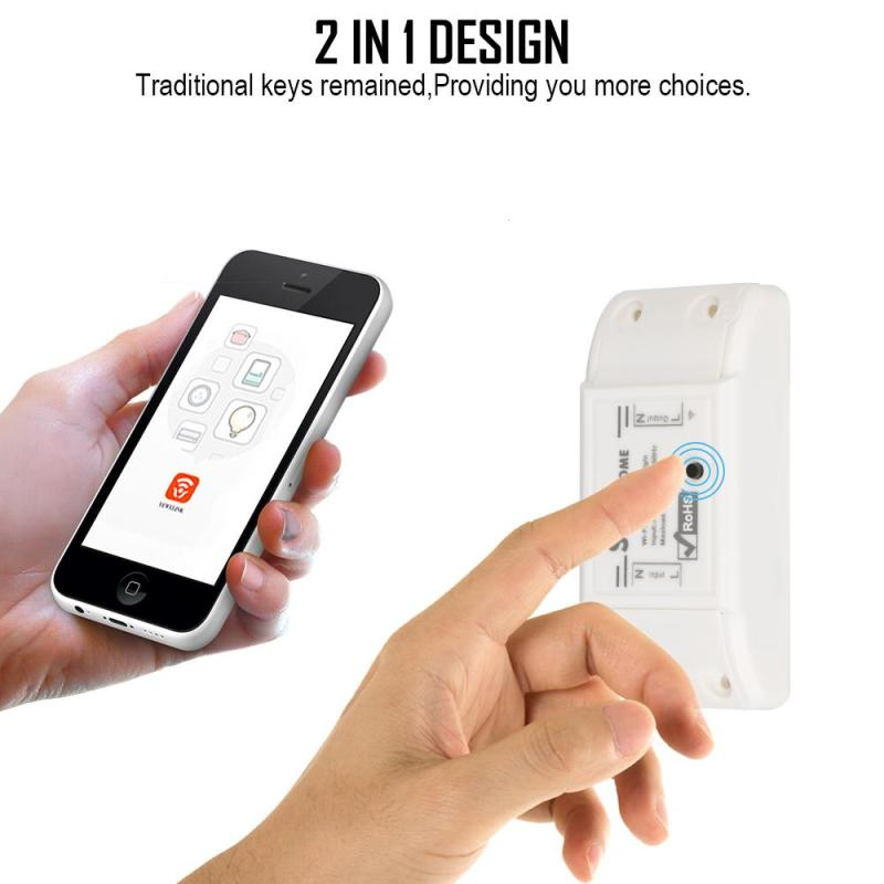 Sonoff Wireless Wifi Switch Universal Smart Home Automation Module Timer Diy Wifi Switch Remote Controller Via IOS Android itead sonoff 4ch channel remote control wifi switch home automation module wireless timer diy switch