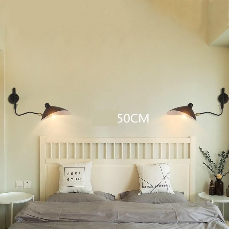 Retro Loft Industrial Vintage Wall Lamps Designer Rotating Sconce Wall Lights For Home Decoration pull remote control switch