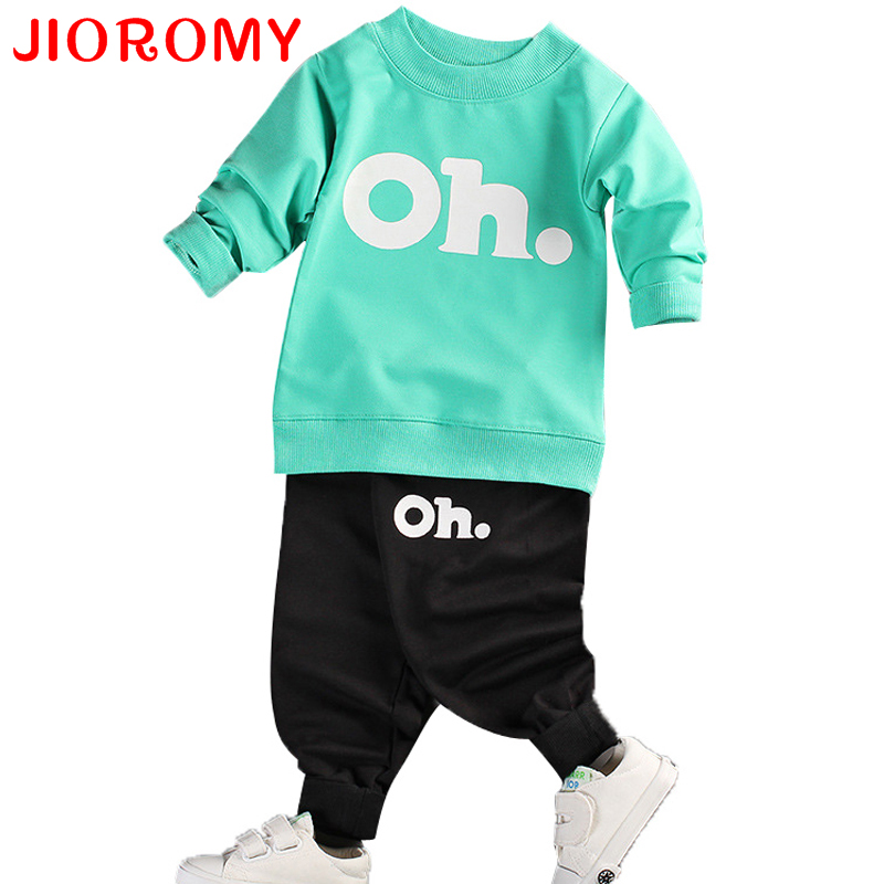 JIOROMY 2017 Baby Boys And Girls Clothes Set Long Sleeve Sport Suit For Boys Children Clothing Cotton Costume For Kids Suits 2016 baby girls boys children clothing set baby clothes long sleeve hoodies pant bodysuit kids suit free shipping