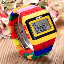 Vogue Girls males's Watches Unisex Colourful Digital Waterproof Clock Wrist Watch wholesale