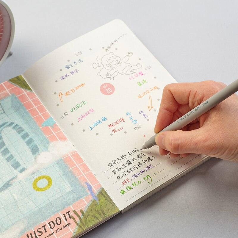 2X Cute Kawaii Lovely Animals Pig Bear Panda Erasable Gel Ink Pen School Office Supply Student Stationery Writing Signing Pen