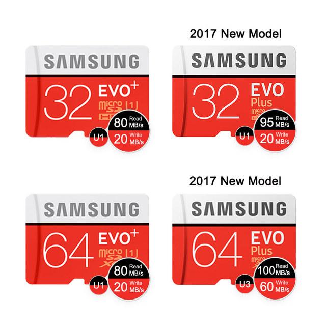 SAMSUNG Memory Card Micro SD 256GB 32GB 64GB 128GB 512G SDHC SDXC Grade EVO+ Class 10 C10 UHS TF Cards Trans Flash Microsd