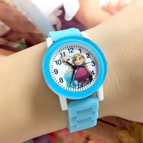 Children Watch Cartoon Princess Elsa Child Watches Candy Cute Color Anna Kids Clock For Girl Student Gift Wrist Watches Joven Multan