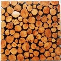 الأصلي ريفي الخشب بلاط الفسيفساء نمط ، الخشب الملمس باكسبلاش ، بلاط الجدران بار ديكور خشبي