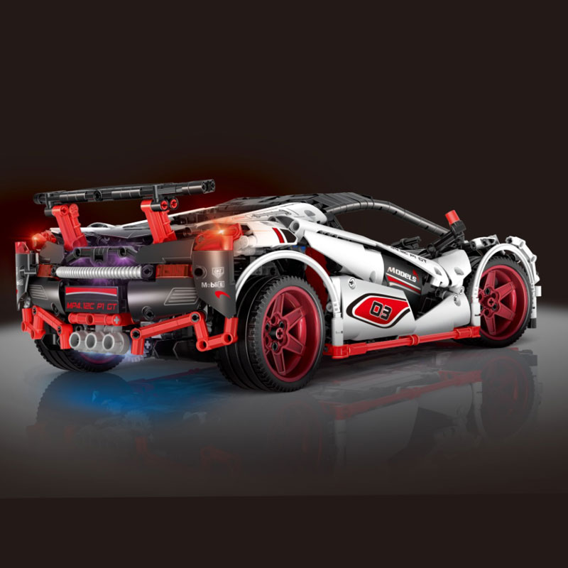 Mould King Technic Series 13067 Compatible With Legoing MOC 16915 White Racing Car Set Kids Building Blocks Bricks APP RC Cars