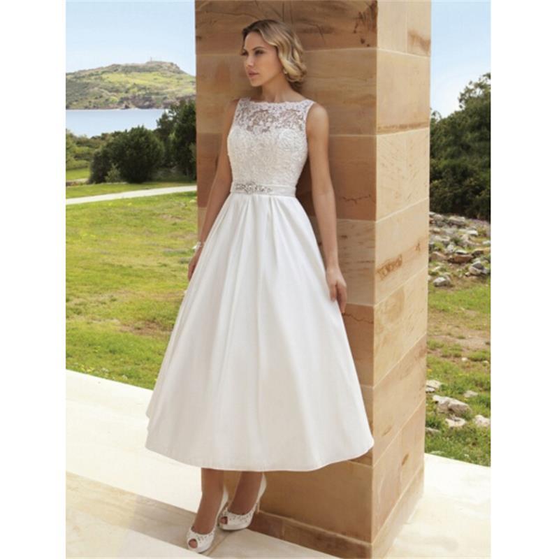 White Wedding Gown Styles: 2016 New Sexy Open Back Tea Length White Wedding Dresses