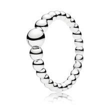554597c70 2019 New Style Authentic 925 Sterling Silver String of Beads Ring For Women  Wedding Party Fine