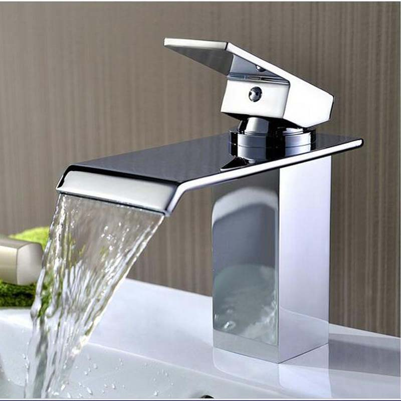 Hosehold Bathroom Faucet Deck Mounted Basin Mixer Faucets Hot Cold Water Faucet Chrome Sink Taps Torneira