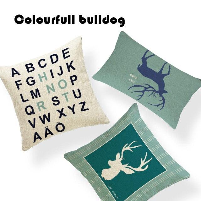 Promozionale Geometrica Moose Sika Cuscino Shabby Chic Cuscino Copre