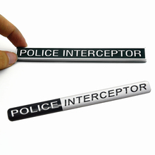 POLICE INTERCEPTOR Metal Car Trunk Emblem Badge Sticker for Ford Explorer Crown Victoria Auto Styling