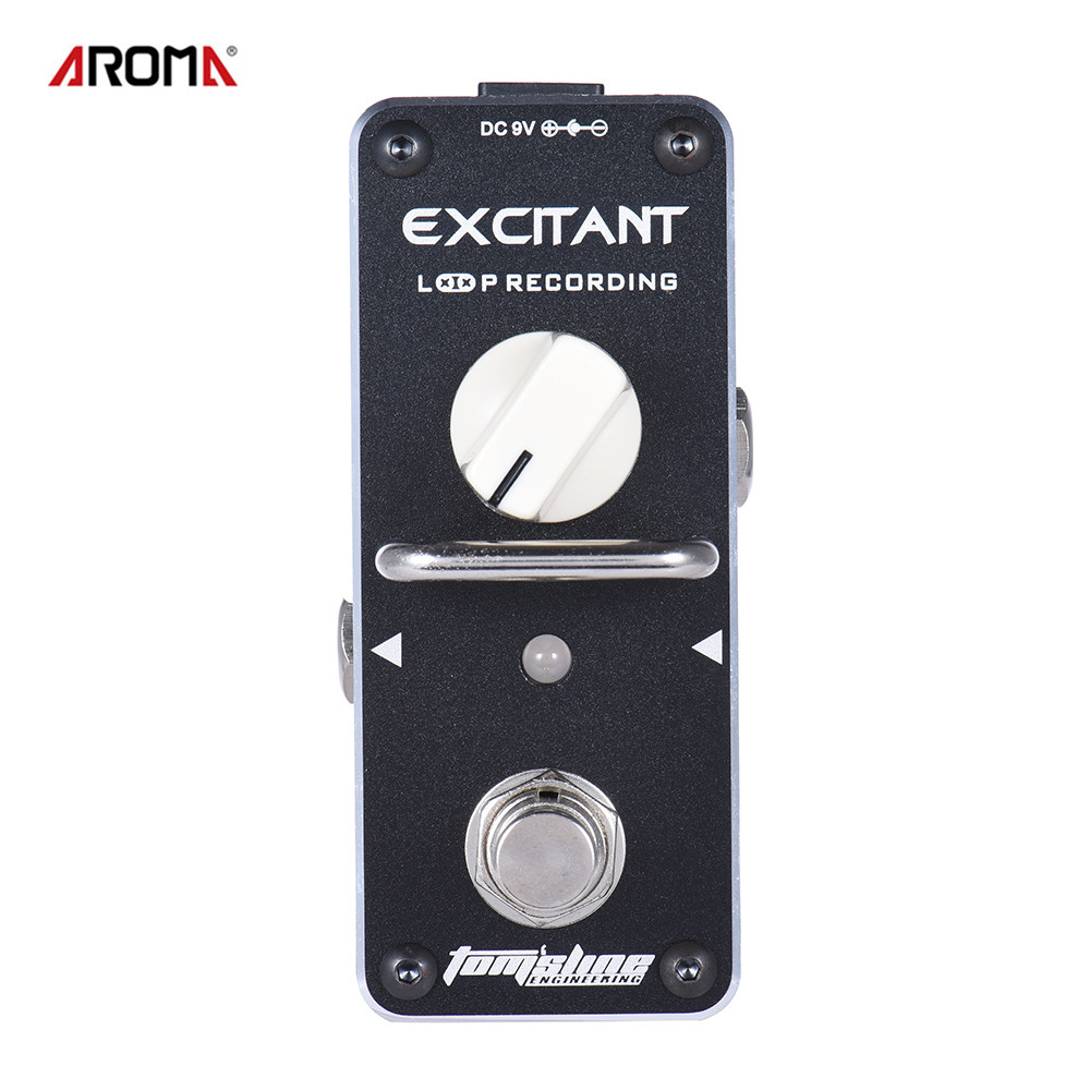 цены AROMA ALP-3 Guitar Pedal Loop Recording Electric Guitar Effect Pedal Looper Unlimited Overdubs True Bypass with Fastener Tape