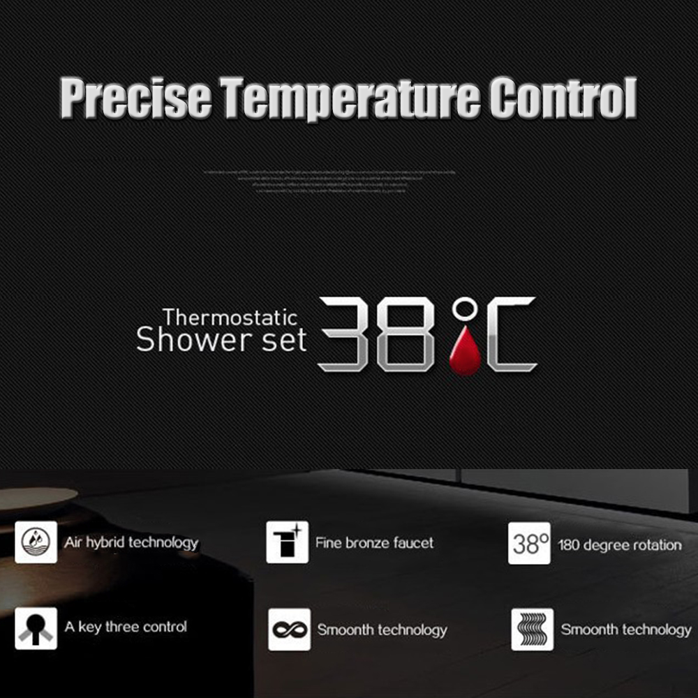 Thermostatic Mixer Shower Faucets Stainless Steel Thermostatic ...