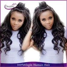 Glueless 180% Peruvian Virgin Hair Wavy Full Lace Human Hair Wigs Dream Beauty Unprocessed Lace Front Human Hair Wigs For Women