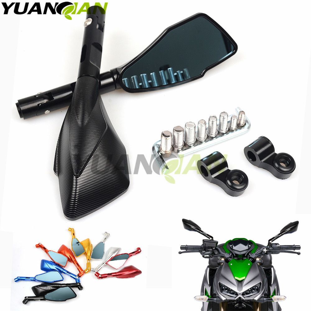 Мотоцикл зеркала мотоцикл ЧПУ Алюминиевый зеркало заднего вида мото боковые для Honda CB600F Шершень CBR600F CBF600 1000 ЦБ 600 Ф cb600f