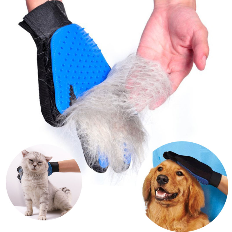 Pet Grooming Glove Cat Hair Removal Mitts De-Shedding Brush Combs For Cat Dog Horse Massage Combs Pet Cat Dog Accessories