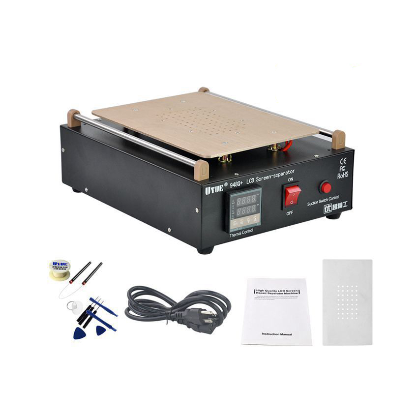 100m Cutting Preventing Hairs From Graying And Helpful To Retain Complexion Built-in Vacuum Pump Mobile Phone Lcd Screen Separator Machine Max 11 Inches Lens Glass Repair Objective Hottest Uyue 948q