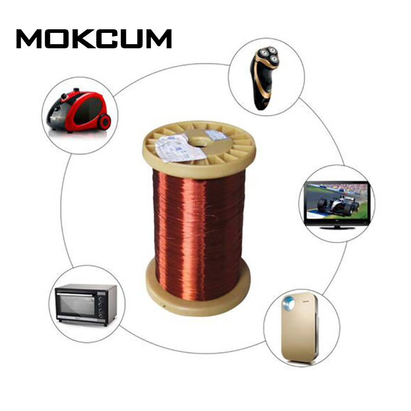 0.13mm 0.51mm 1mm 1.25mm Enamelled Copper Magnet Wire Copper Magnet Wire Weight 100g Copper Wire 1mm