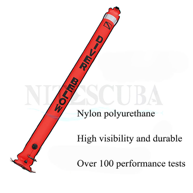Image 2 - NiteScuba SMB Safety sausage Dive float buoy set Aluminum Spool Finger Reel for Cave Diving Underwater Photography accessories