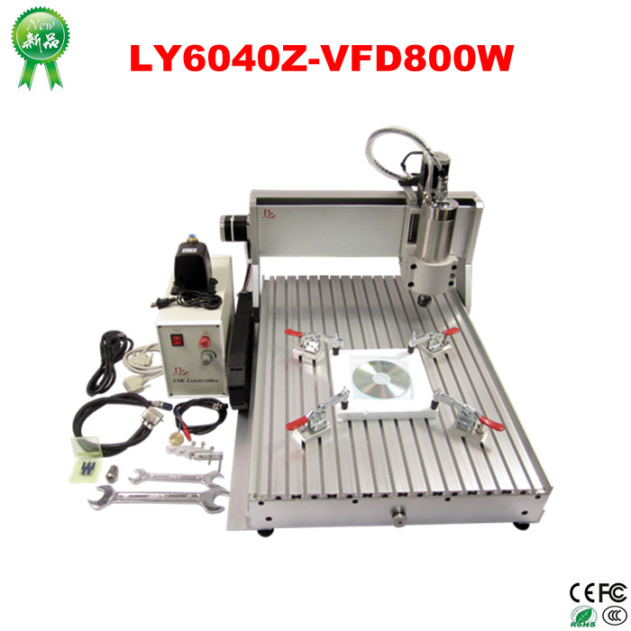 stone metal wood 800w CNC 6040 3 axis CNC Router Engraver/Engraving Drilling and Milling Machine metal engraving machine 3040 engraver 800w cnc machine to eu country free tax