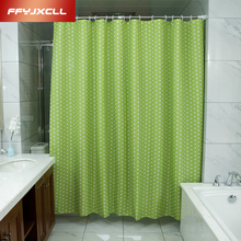 FFYJXCLL Pastoral Green Dots Shower Curtain 180 X 200cm