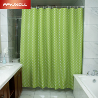 Pastoral Green Dots Shower Curtain 180 x 200cm Bath Curtain Bathroom Curtains Cortina Bathroom Products Beautiful Cover