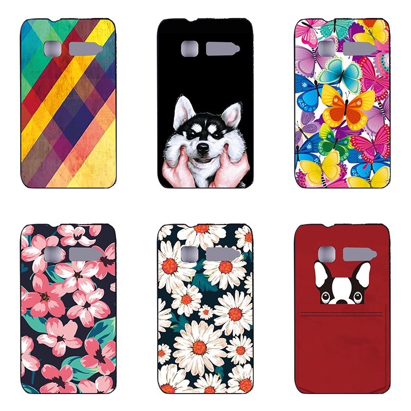 fashion style phone case colour phone shell For Alcatel fire C OT4019 Hard plastic Phone Case colorful painting skin shell