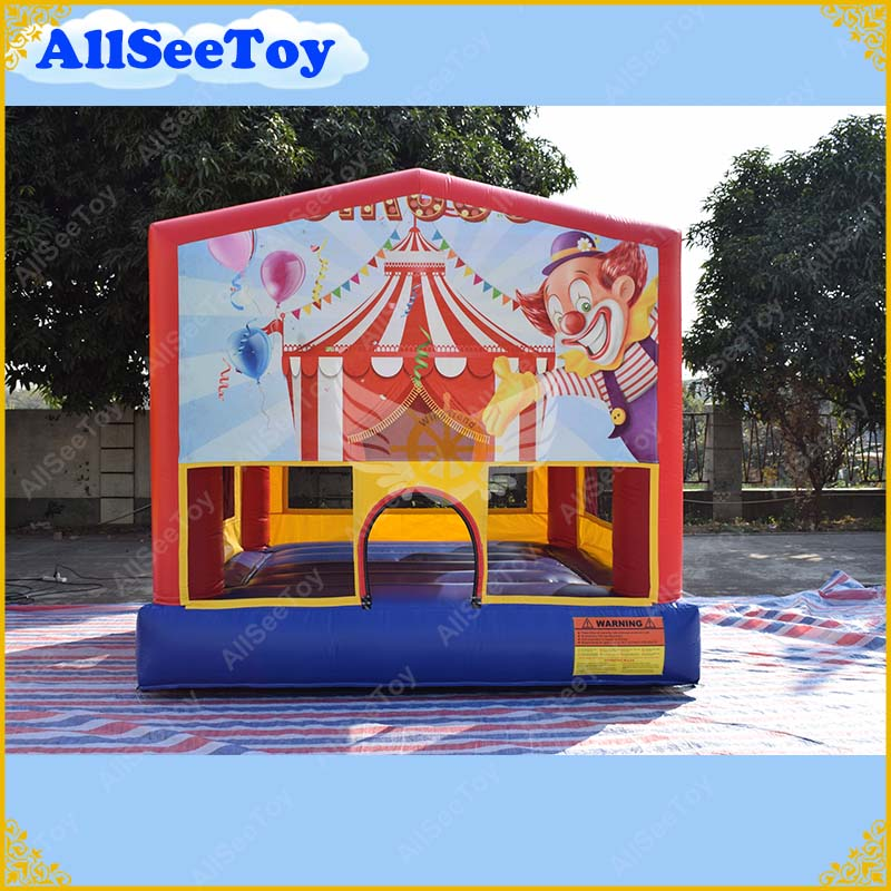 Commercial PVC Bounce House for kids, Clowns Inflatable Bouncy Castle, Jumping Castle for Party and Events commercial tropical inflatable jumping bounce house inflatable kids combo bouncy house for sale