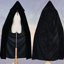 цены на Unisex Mantle Hooded Cloak Coat Wicca Robe Cape Medieval Cape Shawl Halloween Cosplay Party Witch Wizard Costumes  в интернет-магазинах