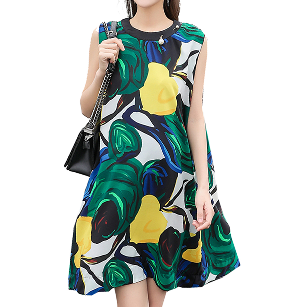 2018 New Fashion Women Maternity Dresses Summer Sleeveless Floral Printed Dress Loose Type Pregnancy Clothes Pregnant Woman