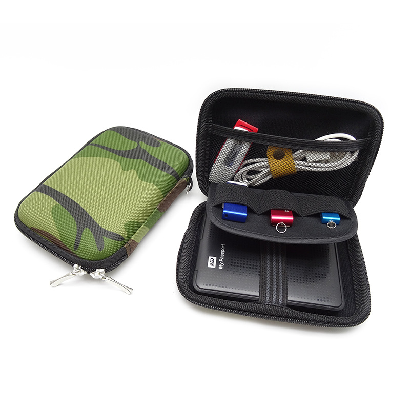 Nworld Carry Case Cover for 2.5 inch Power Bank Military Green USB External WD seagate HDD Hard Disk Drive Protect Bag Case