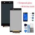 Qualidade original display lcd para sony xperia z1 mini z1 compact d5503 tela de toque digitador assembléia + vidro temperado + ferramentas