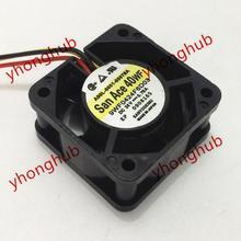Free Shipping For Sanyo 9WF0424F6D03 A90L-0001-0507#A DC 24V 0.076A 3-wire 3-pin connector 40mm, 40x40x20mm Server Square fan free shipping 10pcs 7601 fan7601 0001 laf0001