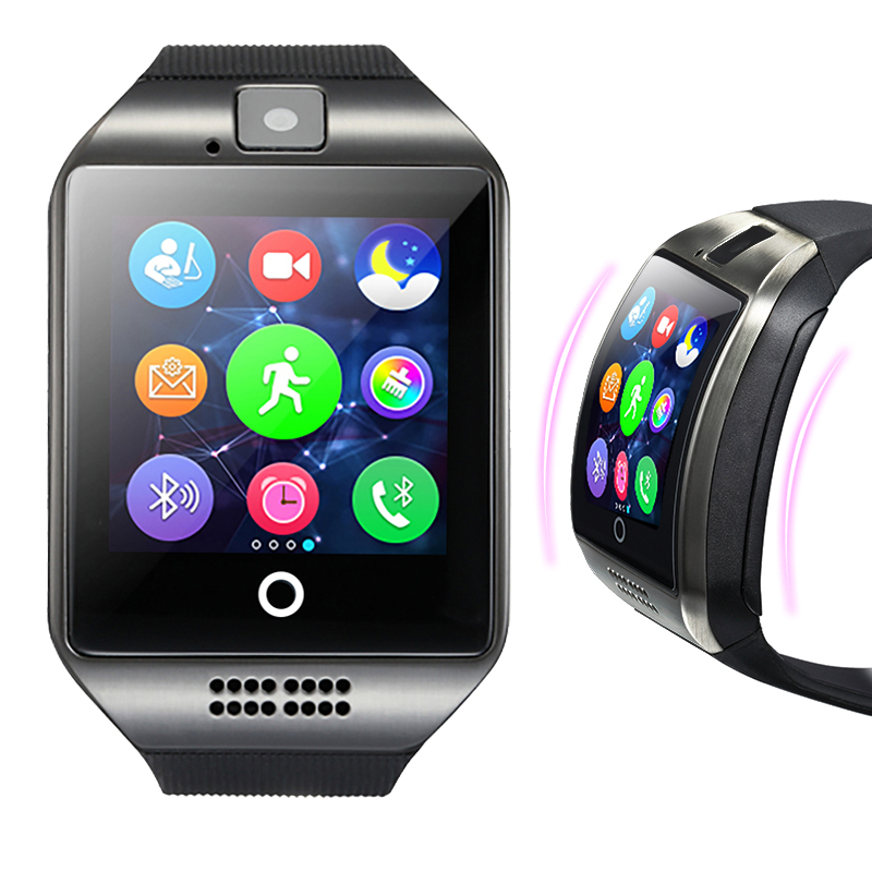 MOCRUX Q18 Passometer Smart watch with Touch Screen camera Support TF card Bluetooth smartwatch for Android IOS Phone 6