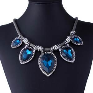 JOYME Women Crystal Stone Jewelry Silver Chain Statement 3a482db193cc