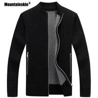 Mountainskin Для мужчин свитер пальто осень-зима теплые пальто-кардиган Трикотаж толстый свитера мужской куртки Для мужчин s брендовая одежда SA598