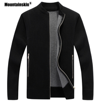 Mountainskin Men's Sweater Coat Autumn Winter Warm Cardigan Coats Knitwear Thick Sweaters Male Jackets Mens Brand Clothing SA598